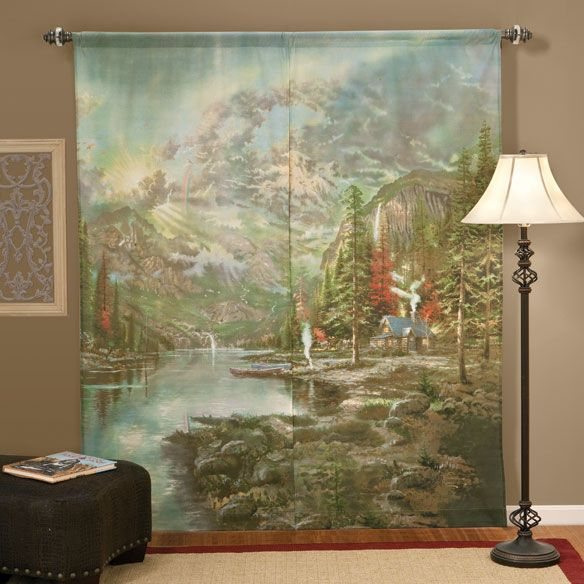 Thomas Kinkade™ Window Art Curtains  View 2  Curtins  Pinterest Stunning Unique Kitchen Curtains Inspiration