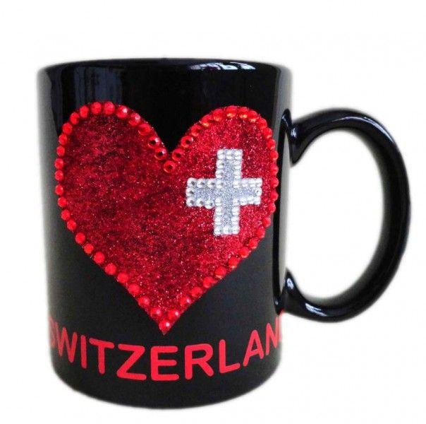 Tasse Switzerland mit Herz / Switzerland cup with heart
