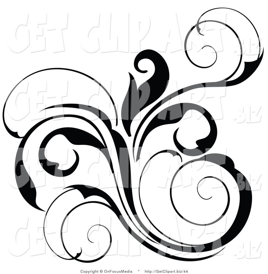 floral scroll design clip art of a black floral scrolling design rh pinterest co uk clip art scrollwork clip art scrolls frames