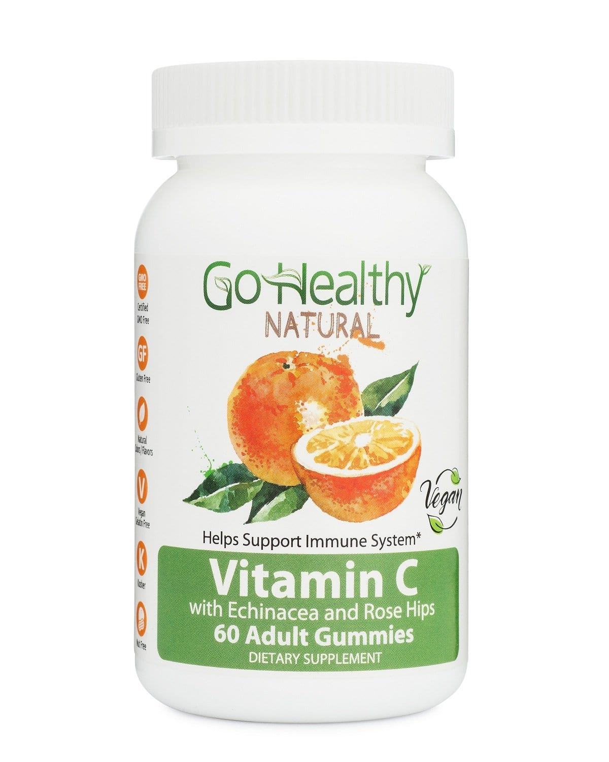 Vitamin C Gummy with Echinacea and Rose Hips, Vegan, 240