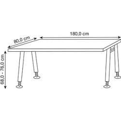 Photo of Hammerbacher As19 height-adjustable desk, walnut, rectangular HammerbacherHammerbacher