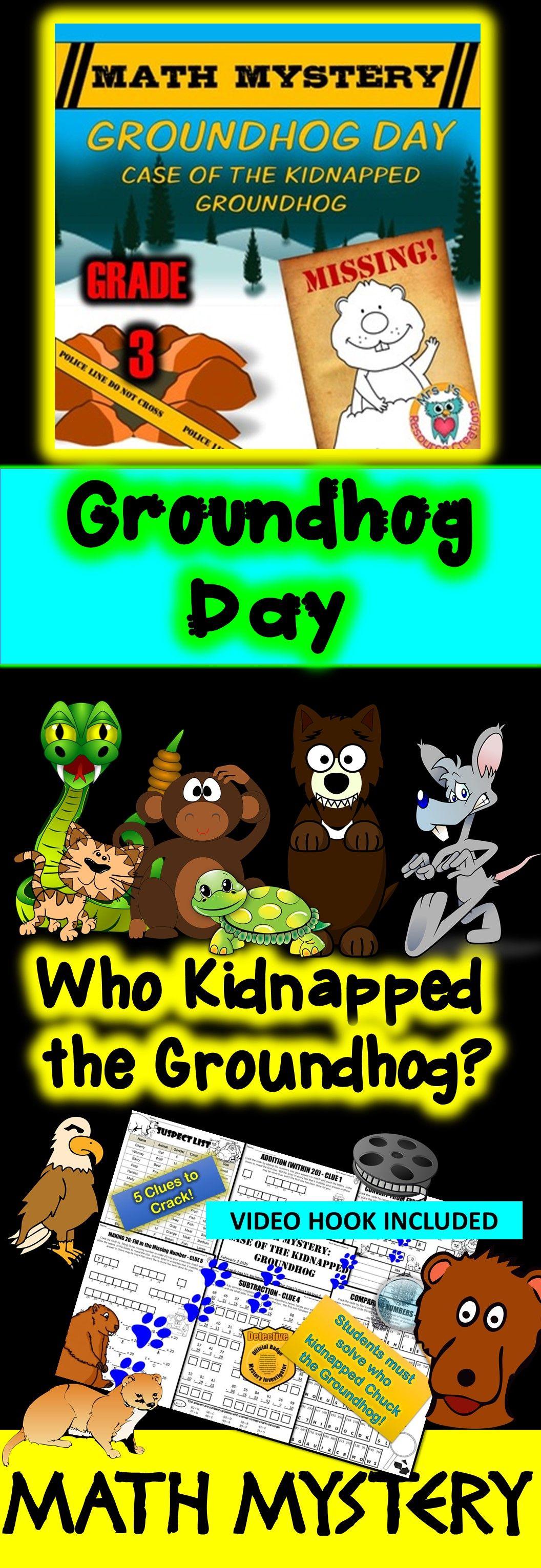 3rd Grade Groundhog Day Math Mystery Activity
