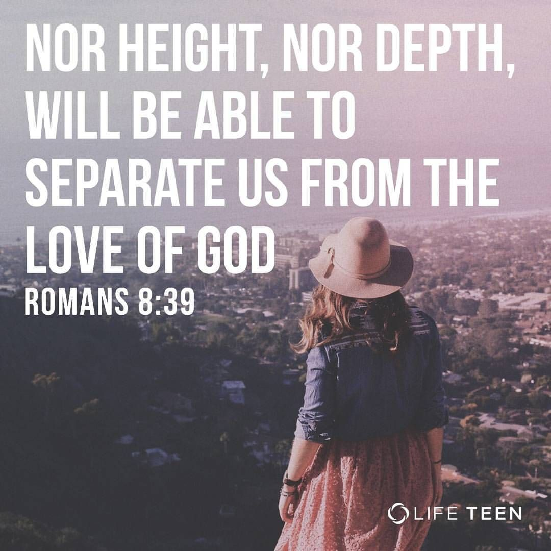 Nothing you do can make God love you more or love you less No matter