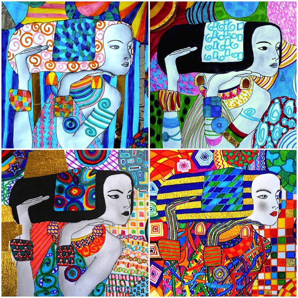 4 Fogli Di Lavoro Su Gustav Klimt Seconda Serie