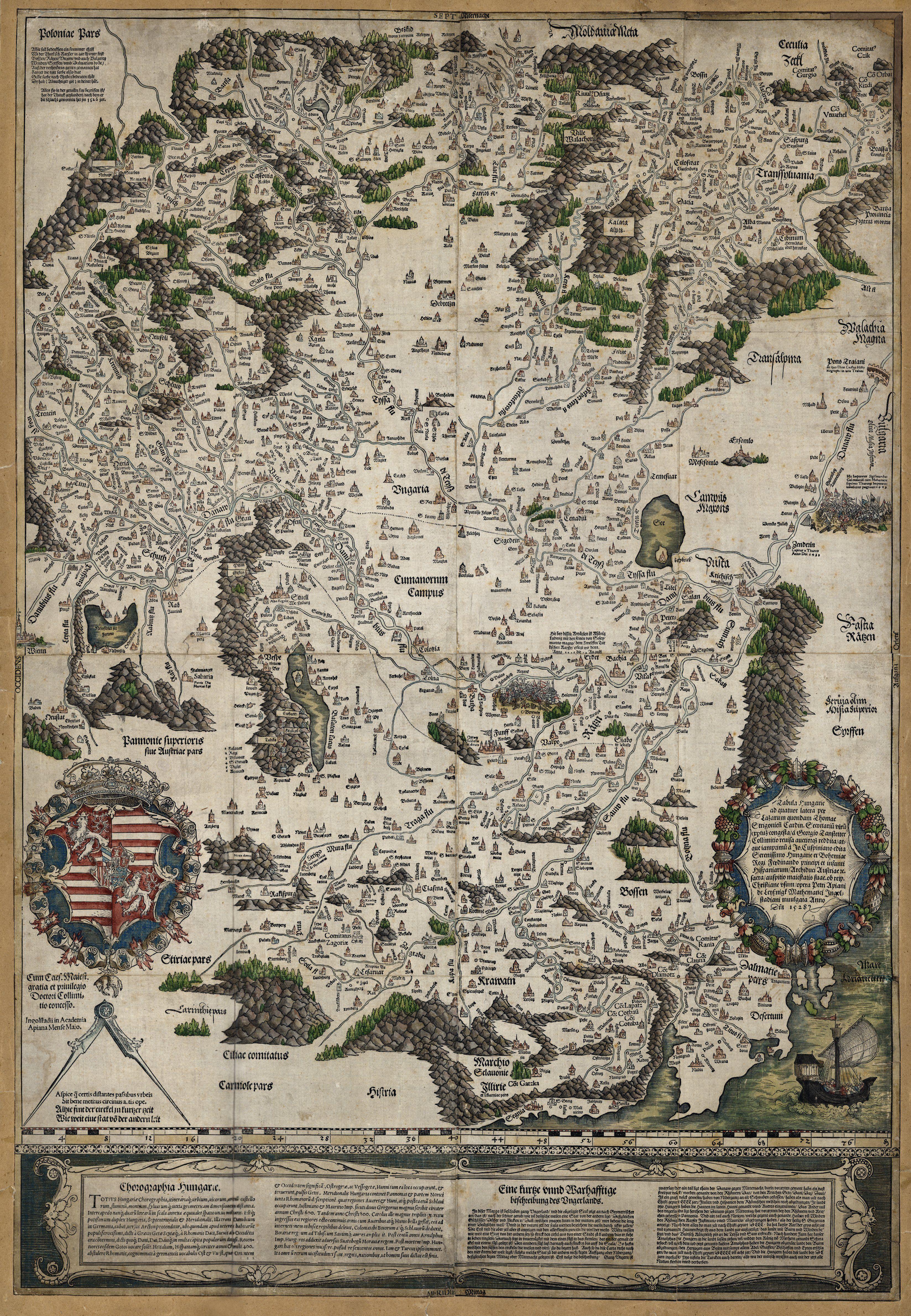 Lazarova Mapa Uhorska Map Art Cartography Map Illustrated Map