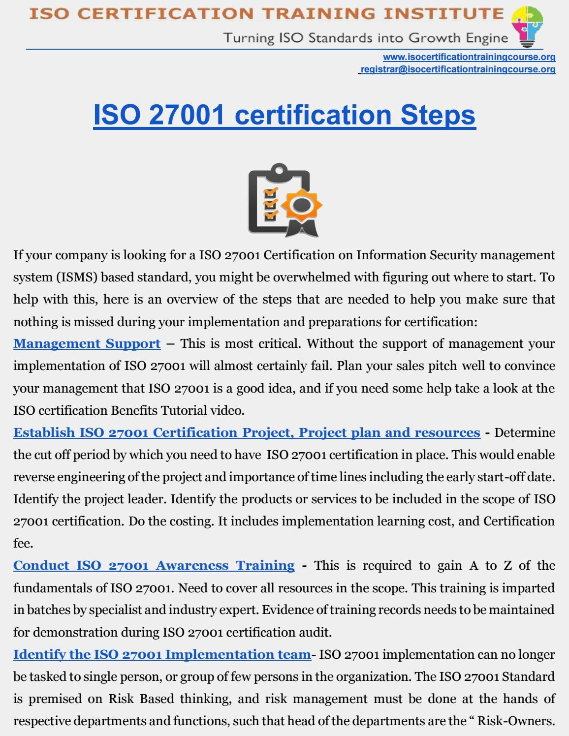 Iso 27001 certification 1betcityfo Gallery