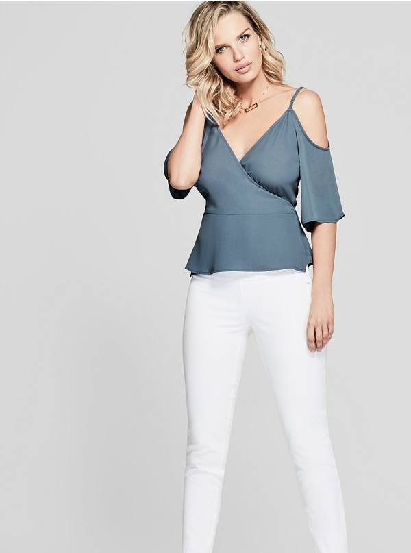 Theana Braided Cold Shoulder Top #Marciano Överdelar, mode  Tops, Fashion
