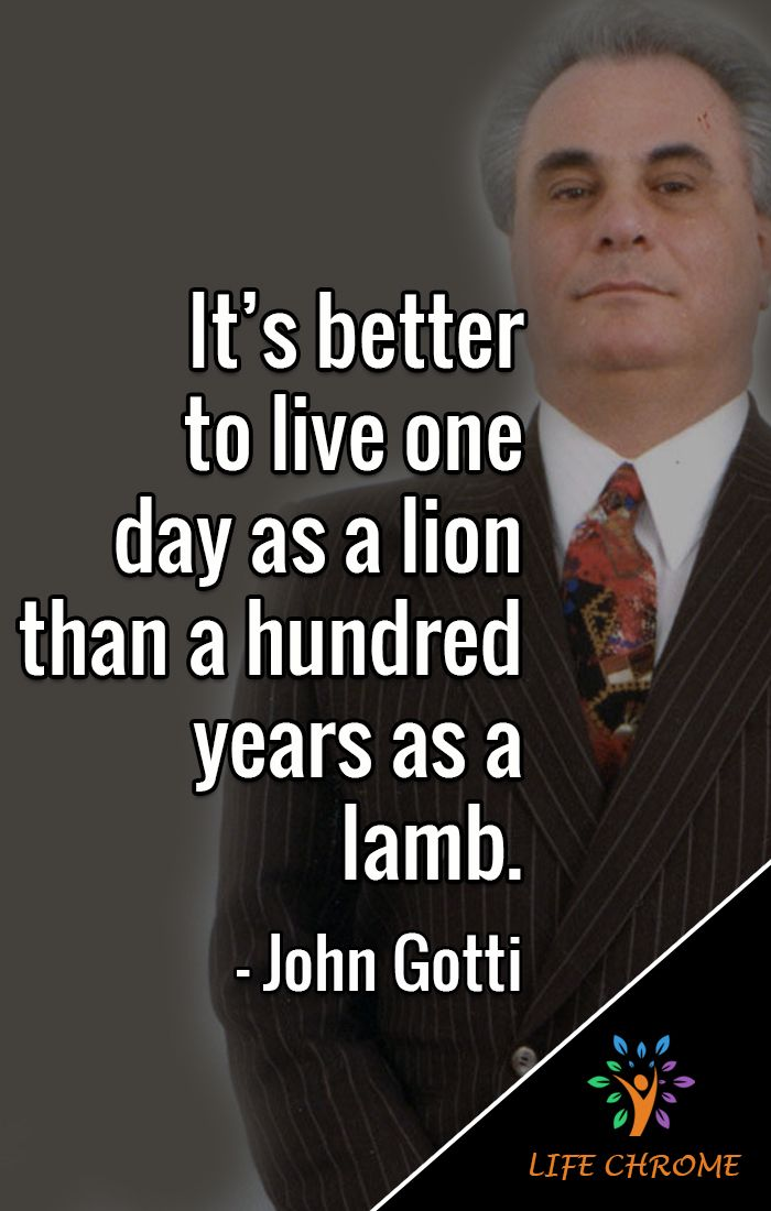 28 Best John Gotti Quotes Gangster quotes, Quotes by