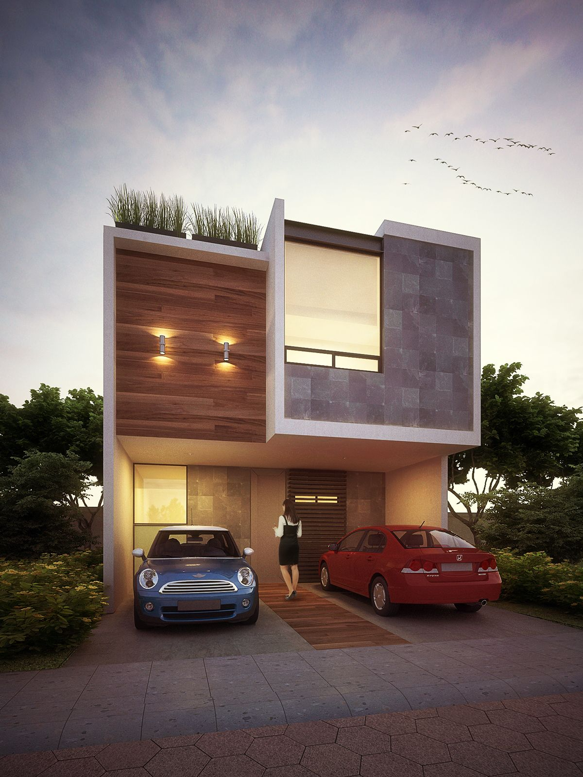 Small but intelligent house in a growth area in the city for Disenos de casas mexicanas
