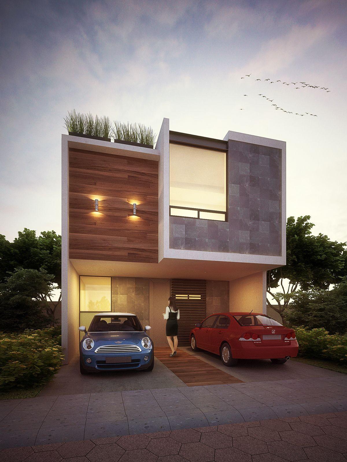 Casa en antigua cementera fachadas pinterest for Arquitectura moderna casas pequenas