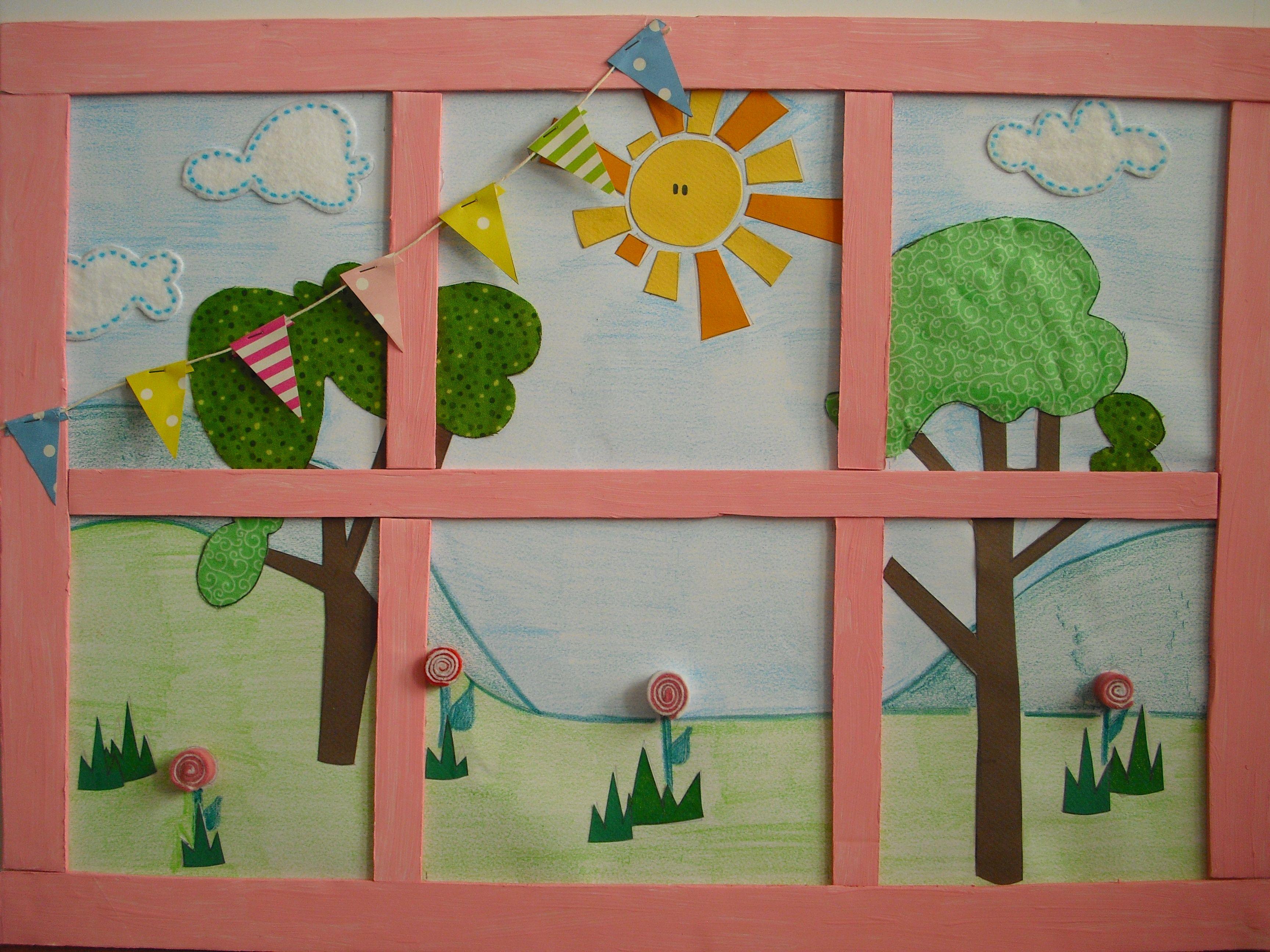 A window on LalaloopsyLand...backdrop per il Lalaparty di Emma
