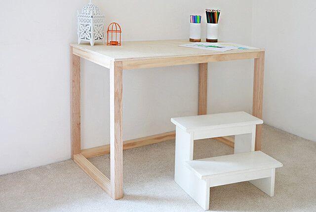 Simple 1-Hour Kids Coloring Desk   Homework station, Desks and Funky ...