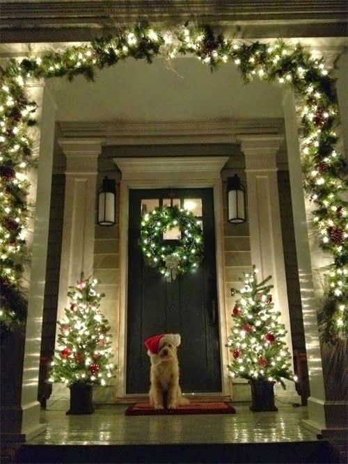 Christmas Decorating Idea Decor Pinterest Front porches