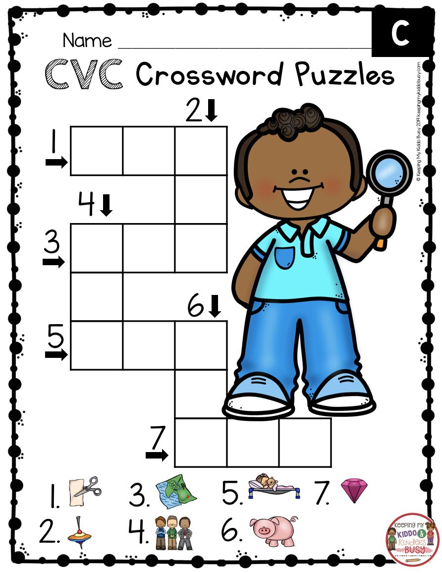 Phonics Unit 4 Cvc Words Word Families Freebie Keeping My Kiddo Busy Cvc Words Phonics Kindergarten Cvc Words Kindergarten [ 1156 x 892 Pixel ]