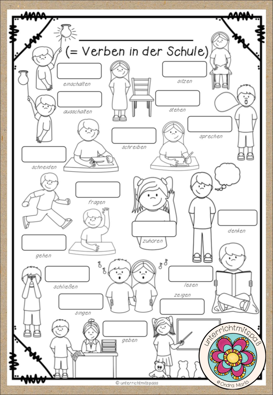 Verben in der Schule Bildwörterbuch