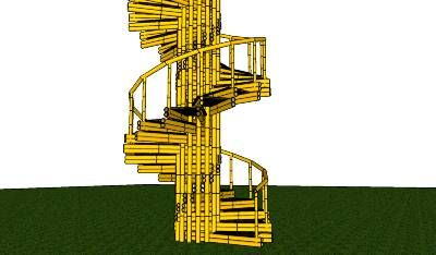 Best Bamboo Spiral Staircase By Bamboojo 3D Warehouse 400 x 300