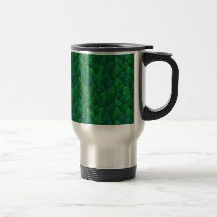 Exotic palm leaves jungle pattern travel mug | Zazzle.com #junglepattern #Exotic palm leaves jungle pattern travel mug - #travel #accessories #junglepattern