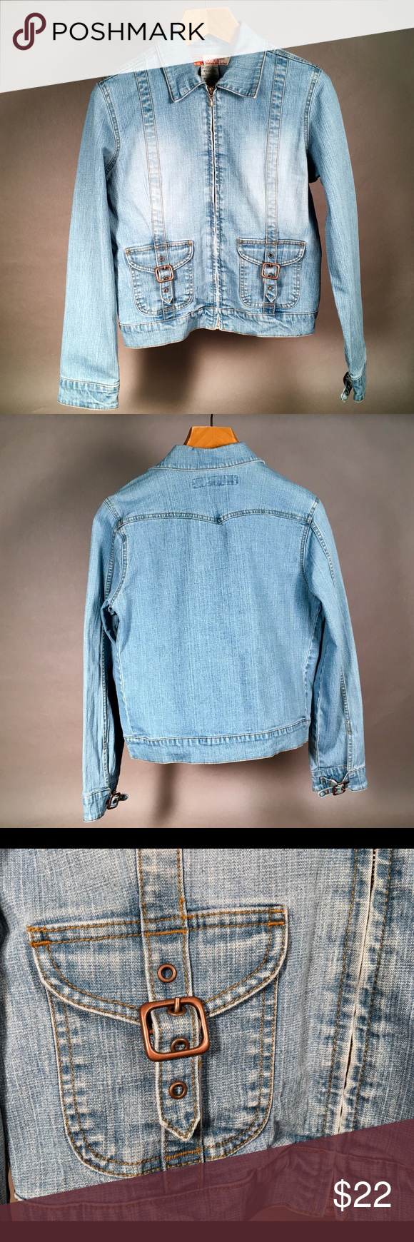 Faded Glory Jean Jacket Size Missy Small Denim Denim Fashion Faded Glory Jeans Fashion [ 1740 x 580 Pixel ]