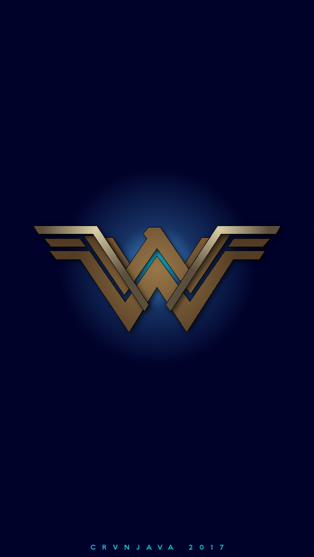 My Tribute To The New Wonder Woman Logo Sized To Fit Your Phone