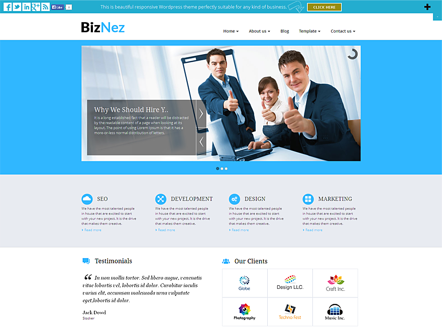 WordPress › Biznez Lite « Free WordPress Themes | Free WordPress ...
