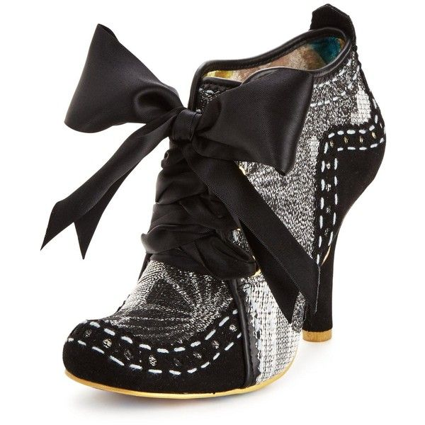 Irregular Choice Irregular Choice Abigail'S Third Party Shoe Boot (€100) ❤ liked on Polyvore featuring shoes, boots, ankle booties, leather ankle booties, leather booties, genuine leather boots, leather boots and irregular choice booties