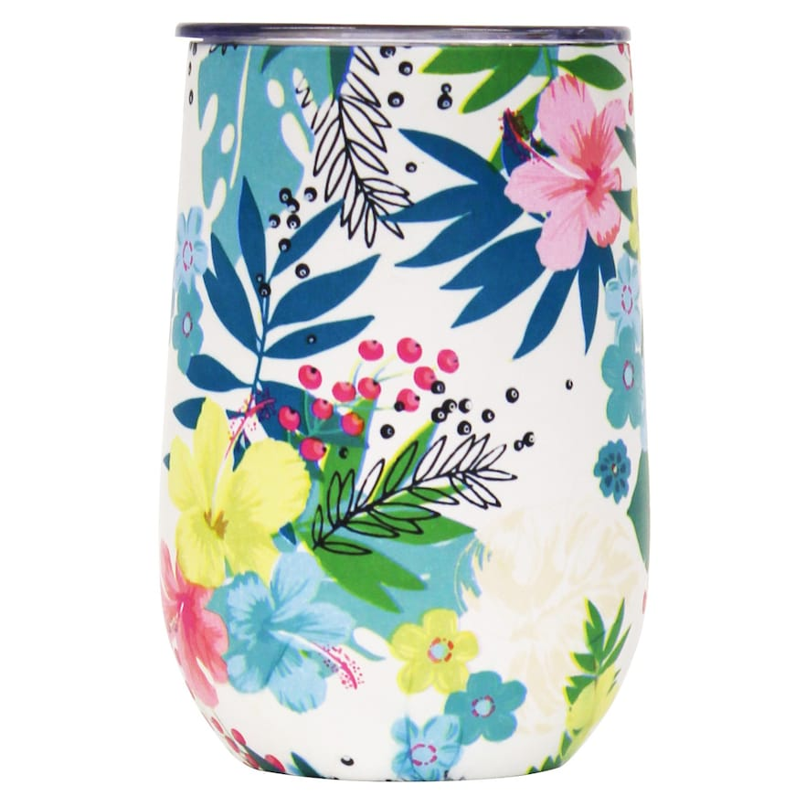 Wellness Double Wall Stainless Steel 14 Oz Wine Tumbler Small Flower Pots Wine Tumblers Tumbler