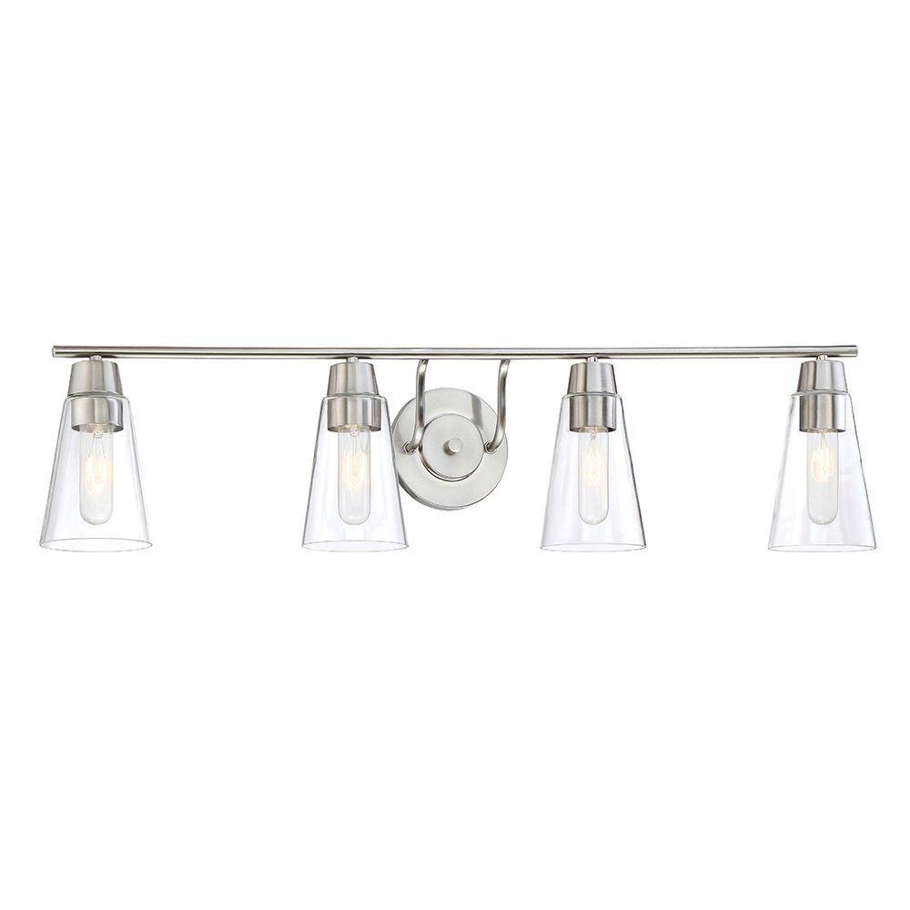 Designers Fountain Echo 4-Light Satin Platinum Bath Bar Light-87804-SP -