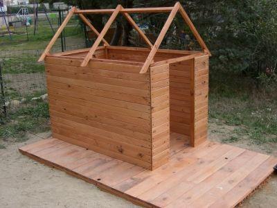 Une cabane pour mes enfants vous avez construit une - Construire une cabane de jardin pour enfant ...