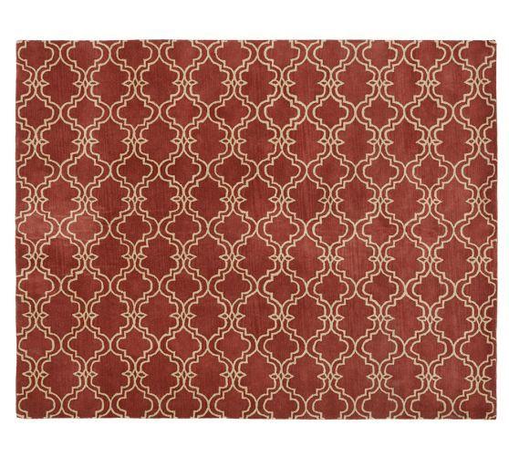 16 Absolutely Gorgeous Mediterranean Dining Room Designs: Scroll Tile Rug - Terra Cotta