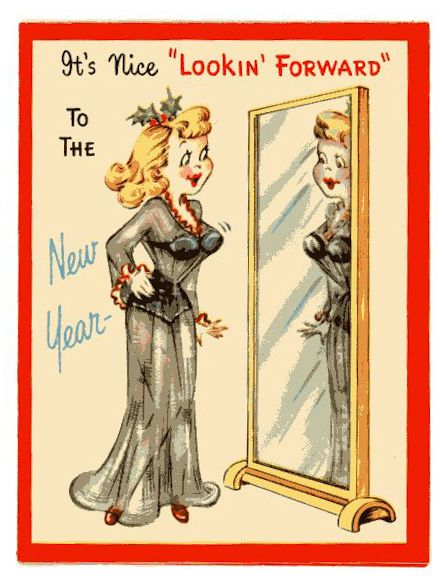 vintage original unused greeting card merry christmas happy new year