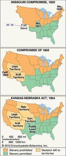 United States areas affected by Missouri Compromise Compromise