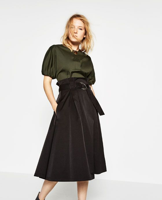 Image 1 of SKIRT WITH BUCKLE from Zara