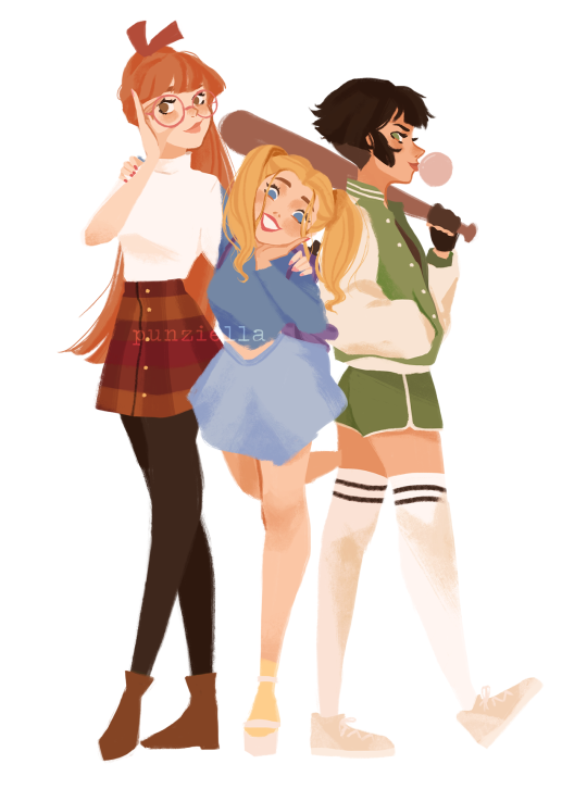 4 Girl Cartoon Characters : Powerpuff girls modern teenagers b by puzella on tumblr