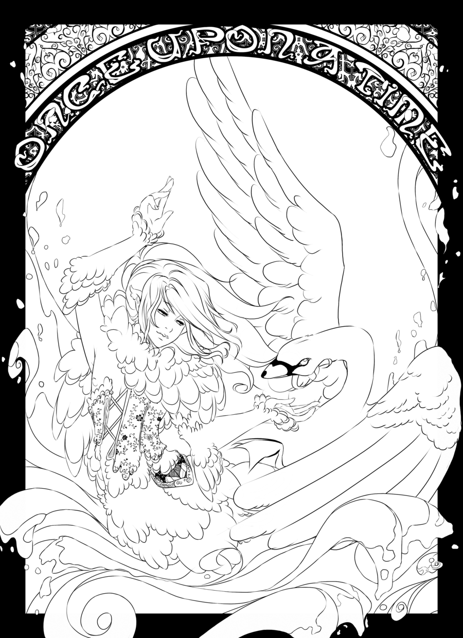 The swan prince color page by centiviantart the swan