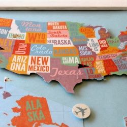 make a u s pin map and flag the places you ve been and dream of the