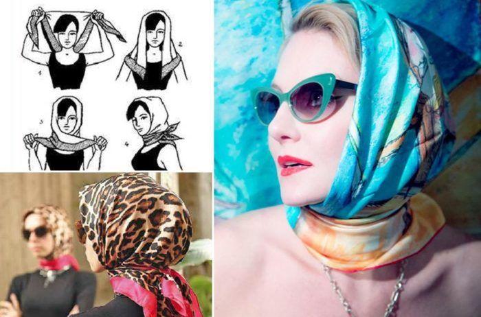 как красиво повязать платок на голову летом