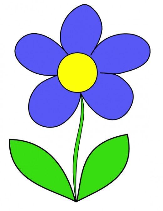Flower Clip Art Collection Of 150 Cartoon Flowers Flower Clipart Flower Drawing