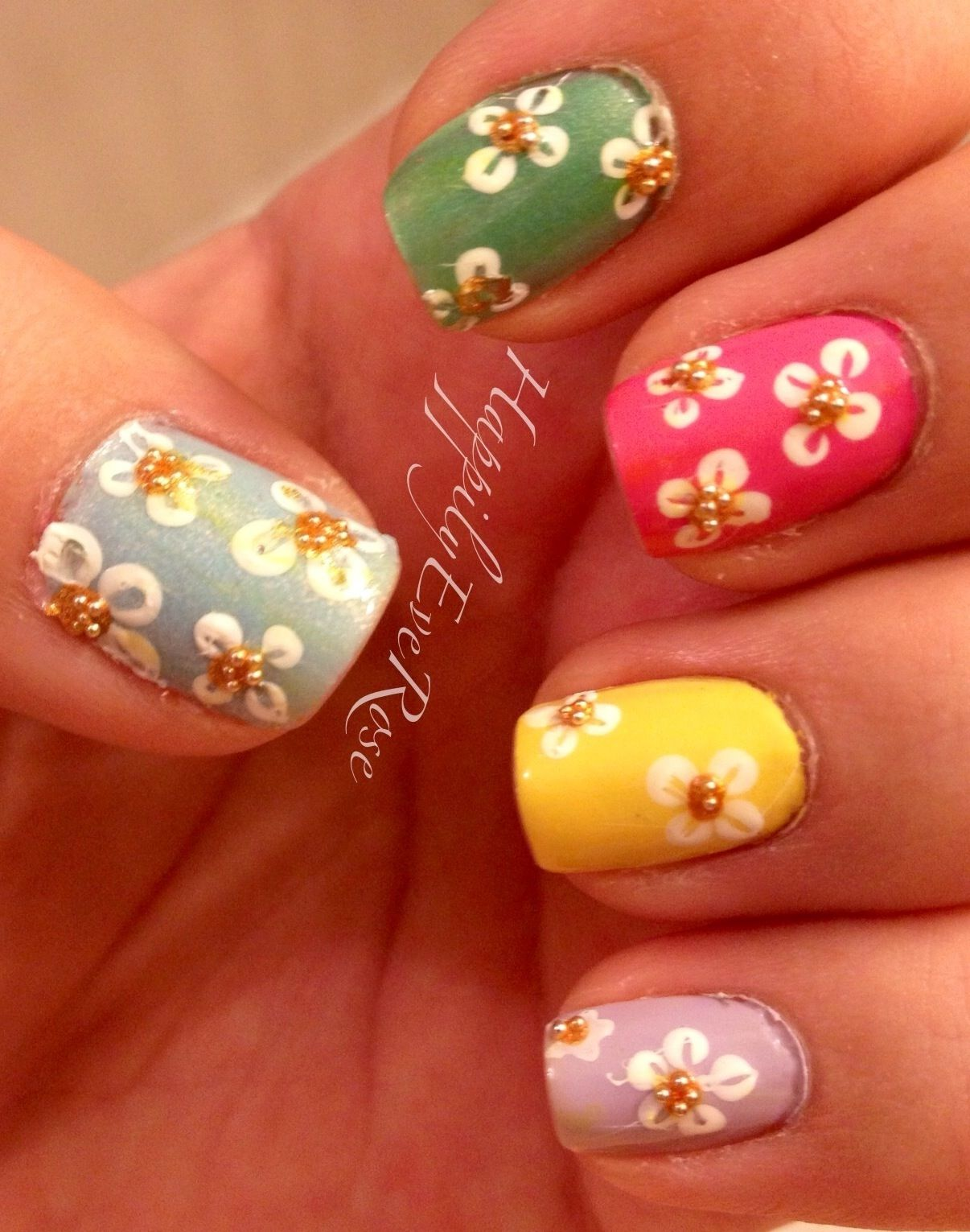Nail Art Ideas » Spring Flower Nail Art - Pictures of Nail Art ...
