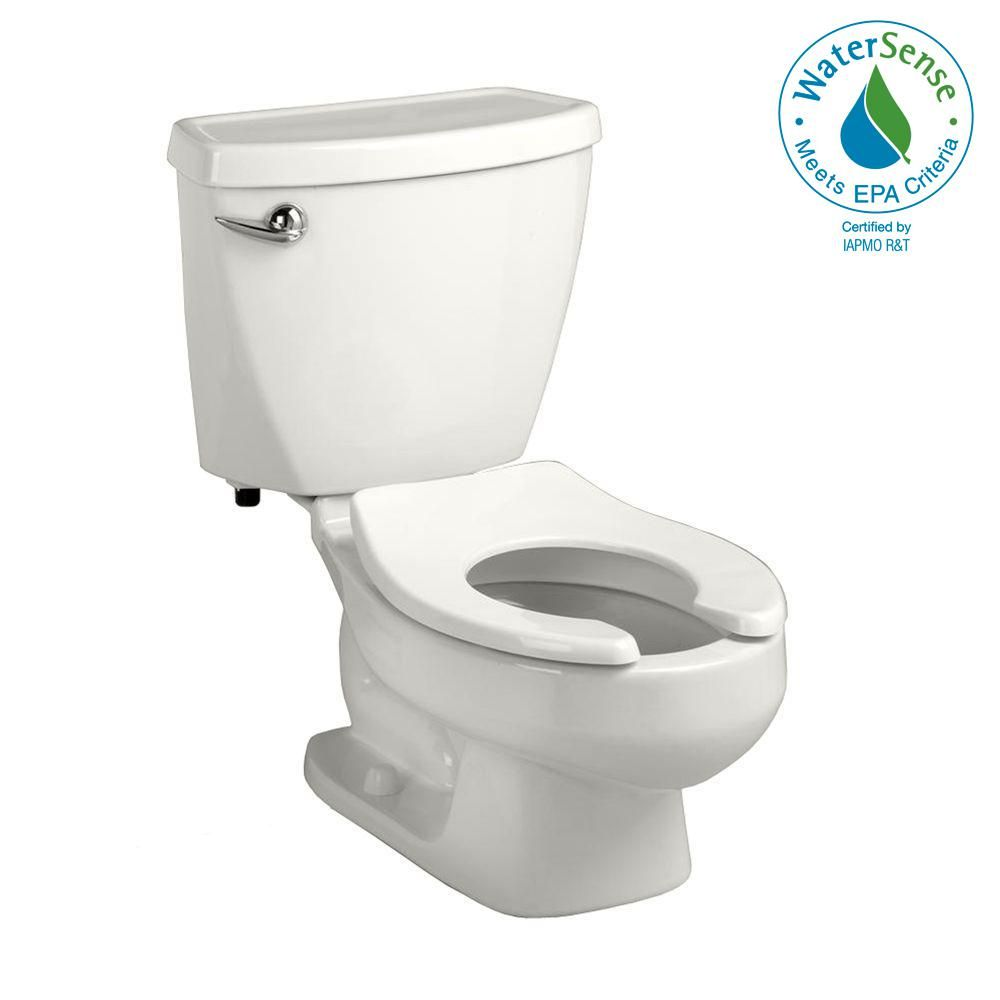 American Standard Baby Devoro Flowise 10 In Rough In 2 Piece 1 28 Gpf Single Flush Round Toilet In White 2315228 020 White Toilet Seats Modern Toilet Toilet