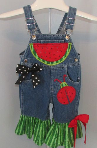 Boutique Overalls Custom Handmade Baby Girls Size 12 Months ...