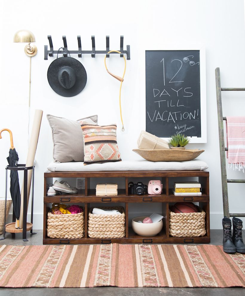 Decorative Ideas For Entryway Organization: A Small-Space Entryway Makeover