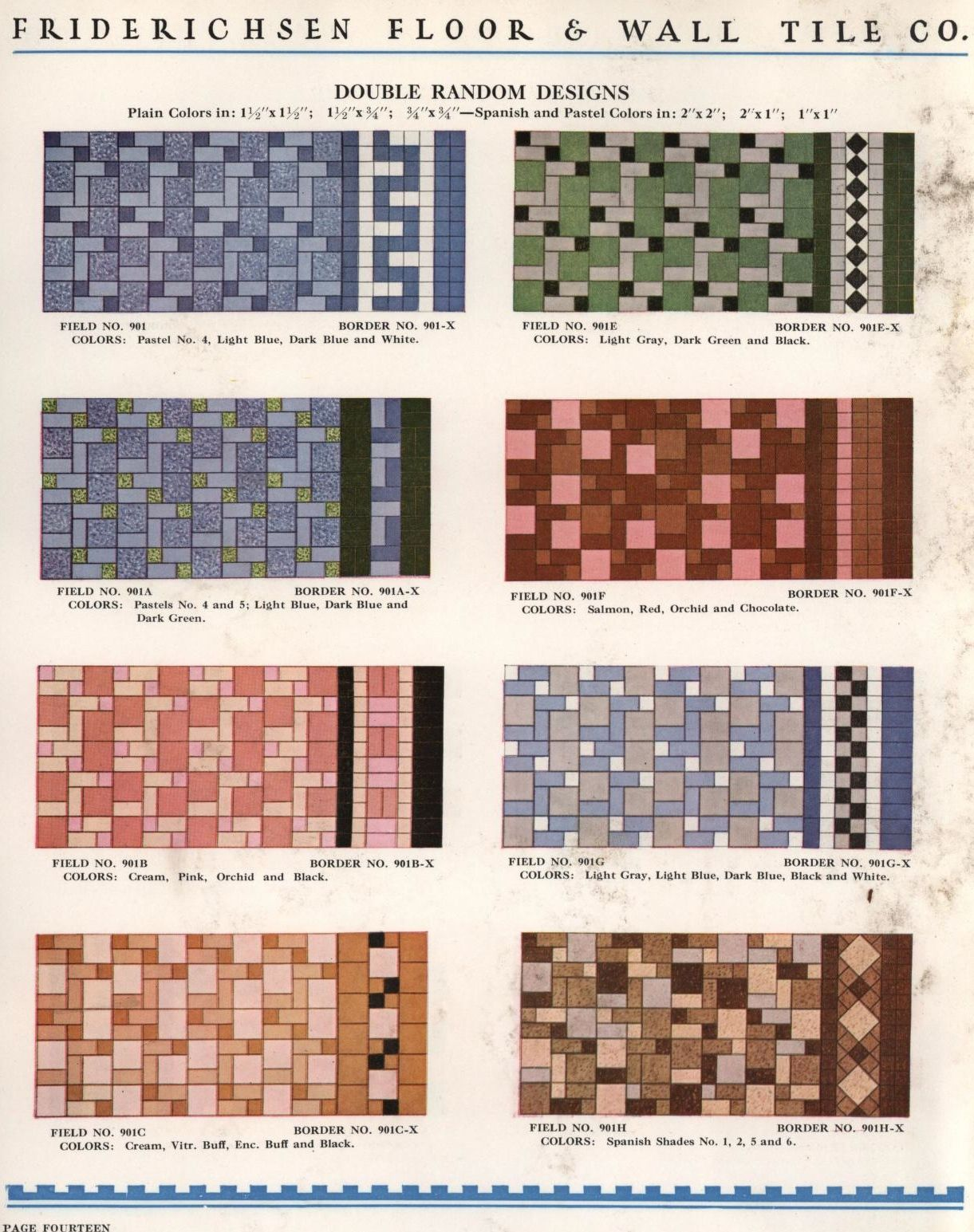 Catalog No 10 Friderichsen Floor Wall Tile Company