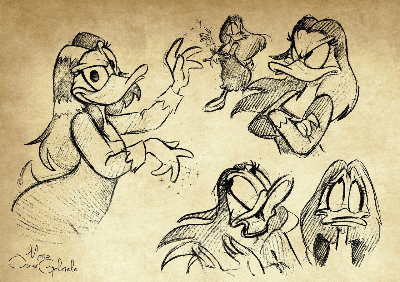 Magica de spell sketches by mariooscargabrieleviantart on