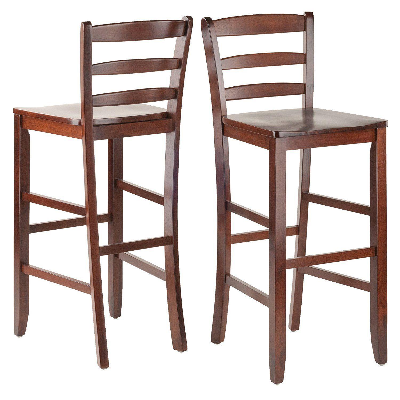 Winsome Wood 94249 Set Of 2 29 Bar Ladder Back Stool Bar Stools