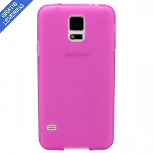 Pink Samsung Galaxy S5 Cover - Frosted Design