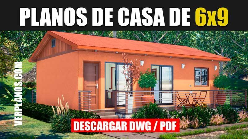 Plano De Casa De 1 Piso Con 3 Dormitorios Y 1 Baño Dwg Pdf Planos De Casas Planos De Casas Economicas Diseños De Casas