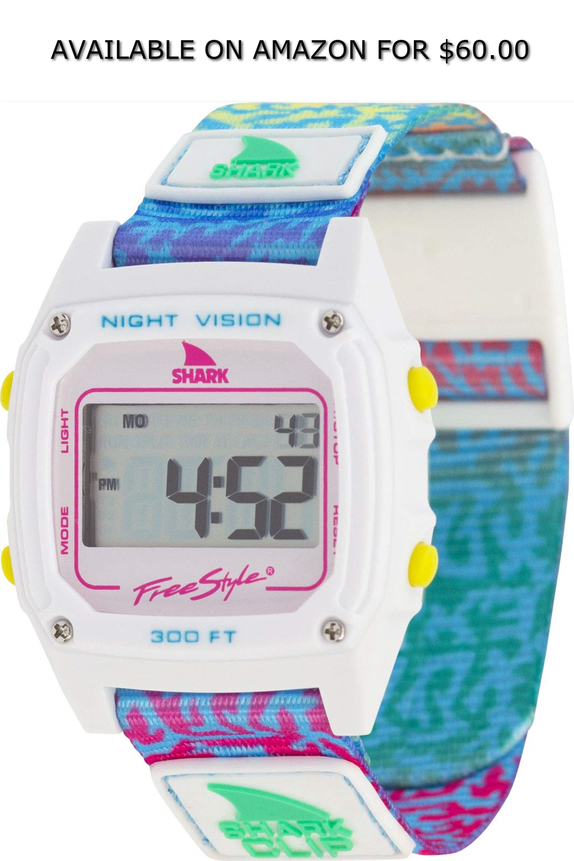 3023417df Freestyle Shark Classic Clip Coral Rainbow Unisex Watch ◇ AVAILABLE ON  AMAZON FOR: $60.00 ◇