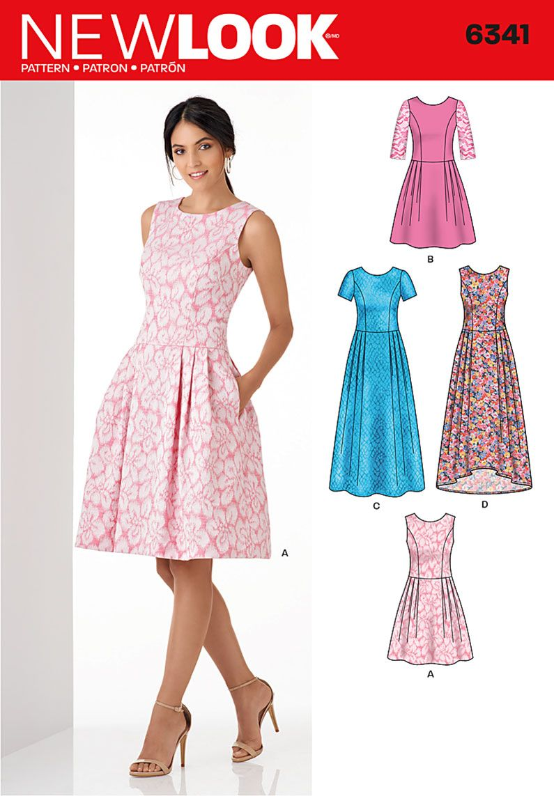 New Look 6341 Misses\' Dress in Three Lengths | Dress | Pinterest ...