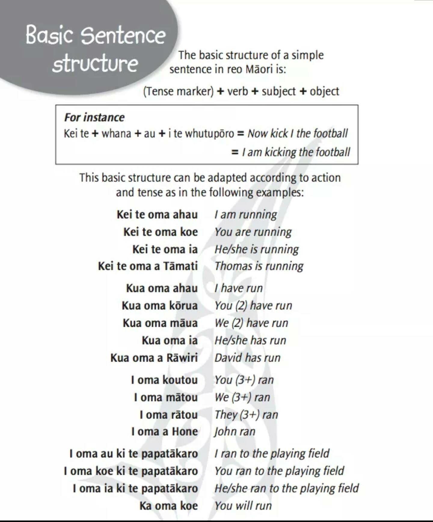 sentence structure te reo maori pinterest maori maori words