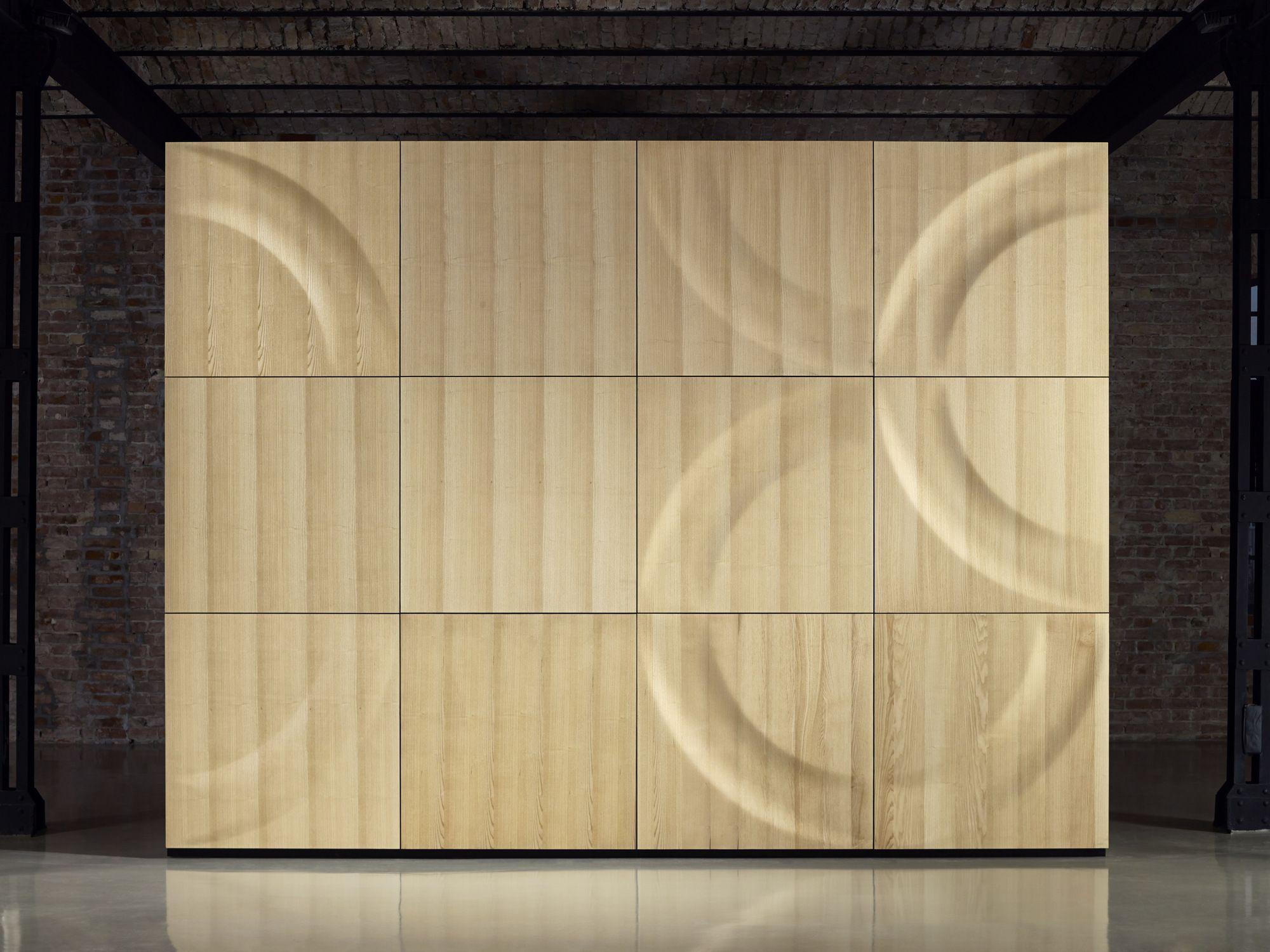 Panel de pared 3D modular de madera DOVER by MOKO | HOME (Paredes ...